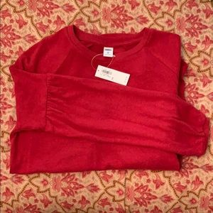 NWT Old Navy XS cranberry red LS luxe top